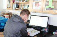 John Nolan creating his resource sheet for Ecology
